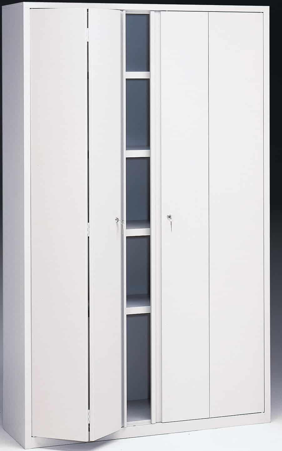 Armario metálico con puertas plegables