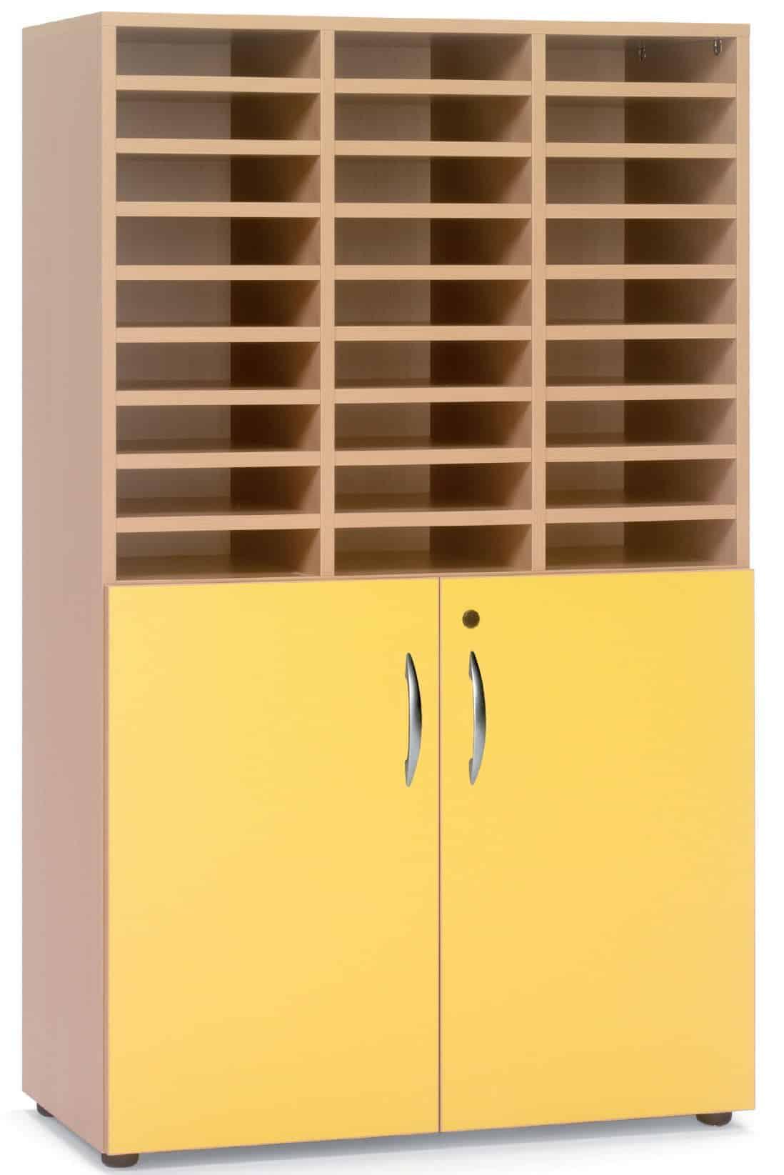 Armario-casillero mediano 2 puertas bajas, 29 huecos (27+2)
