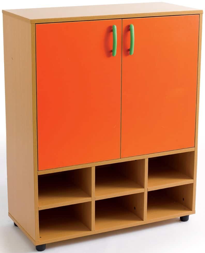Armario-casillero intermedio. 2 puertas, 8 huecos (6+2)