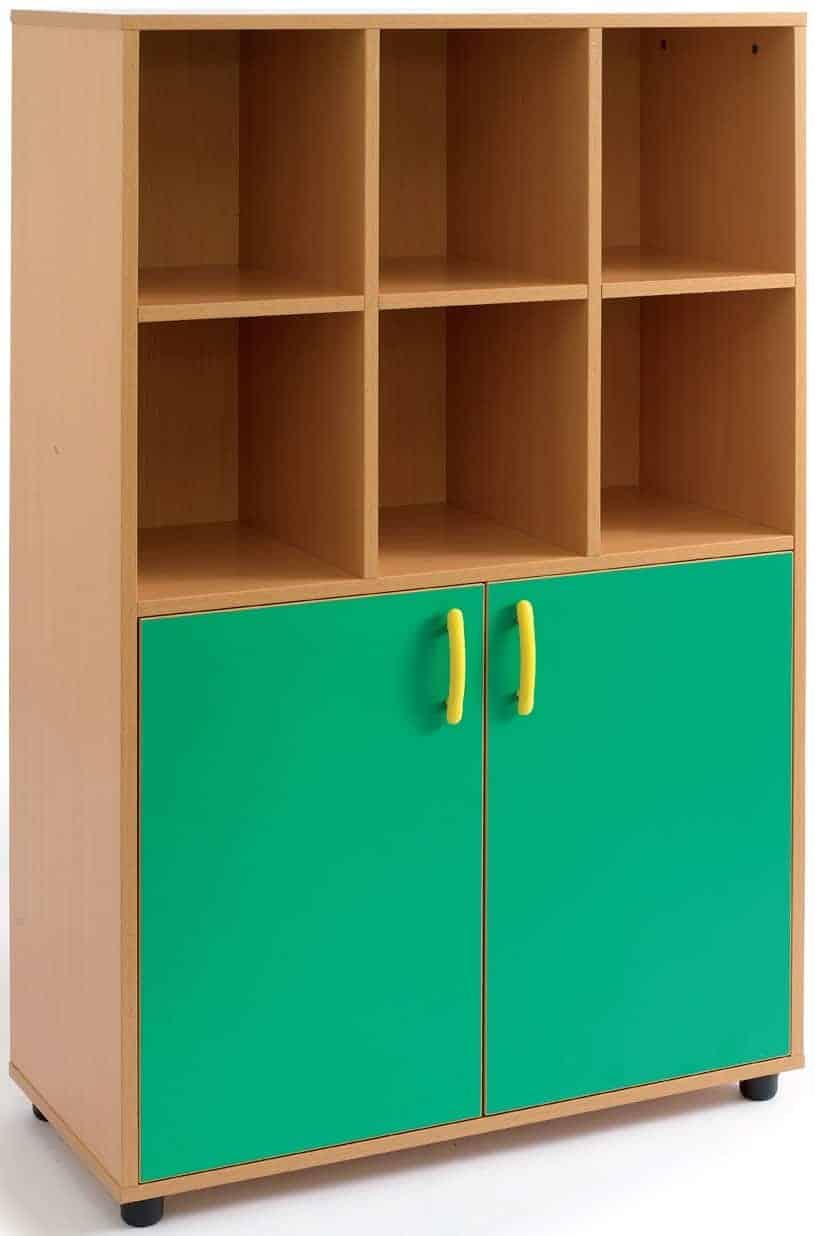 Armario-casillero mediano 2 puertas bajas, 8 huecos (6+2)