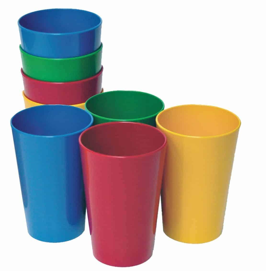 Surtido Vasos De Colores 8 Unidades Infantil