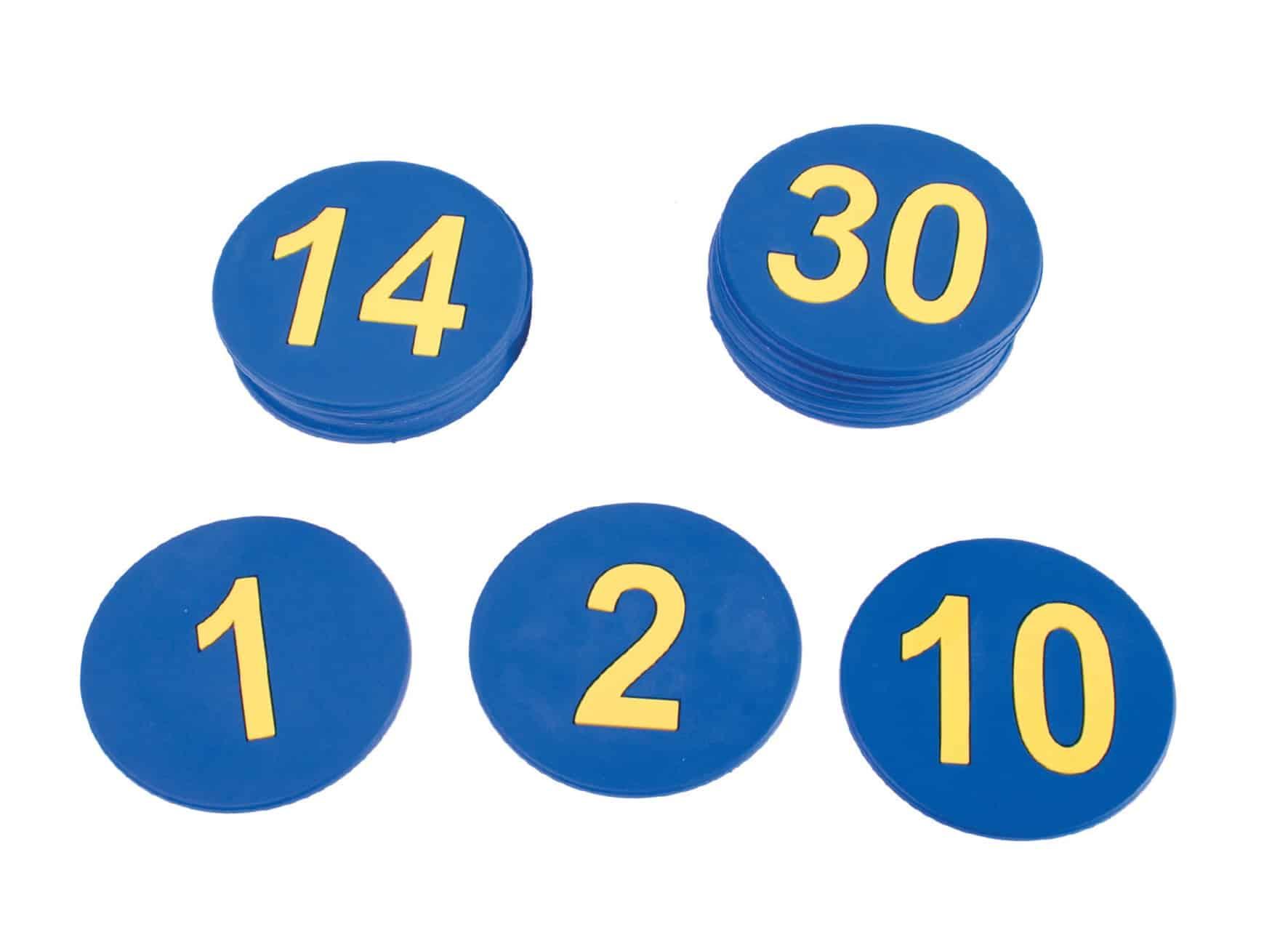 Número Caucho 1-30