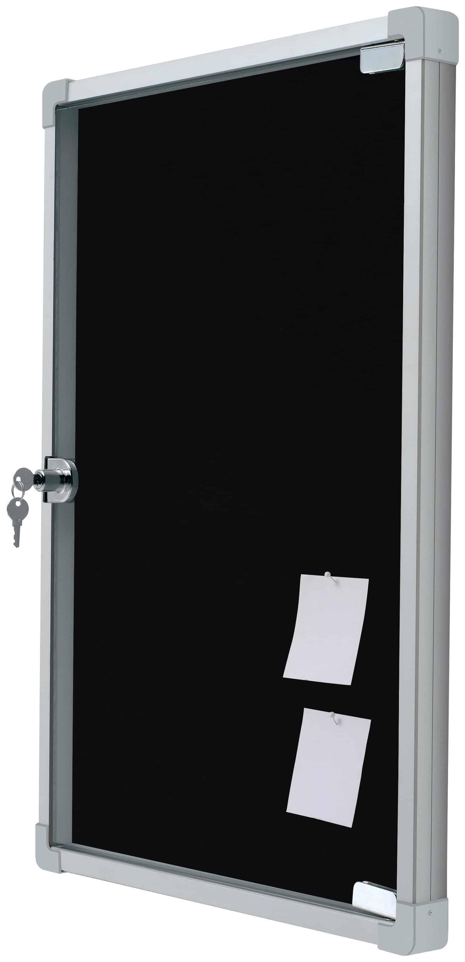 Vitrina Interior. Tapizada. Marco Standard. Puerta Abatible